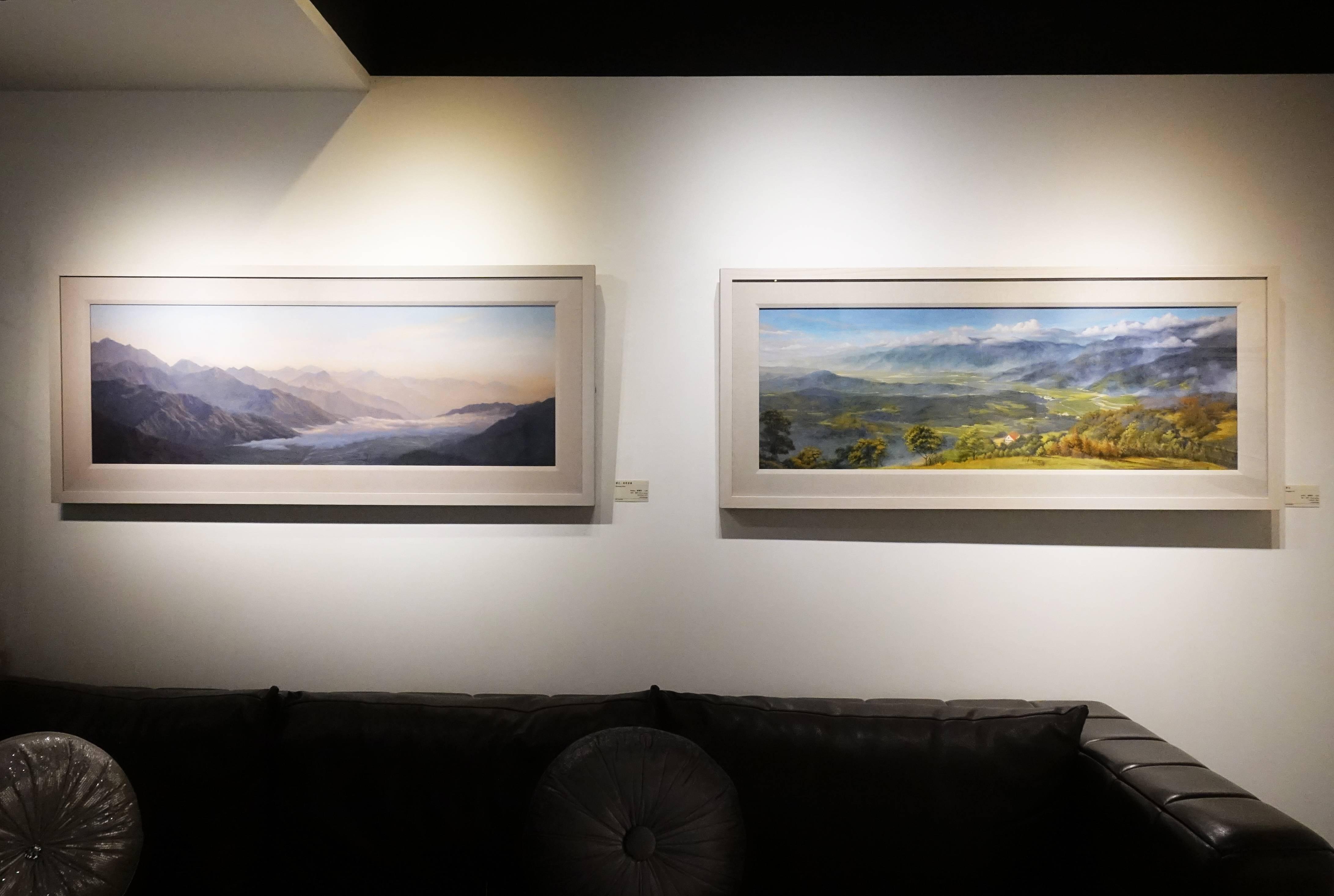 得藝美術館展出藝術家曾雅玲油畫作品。