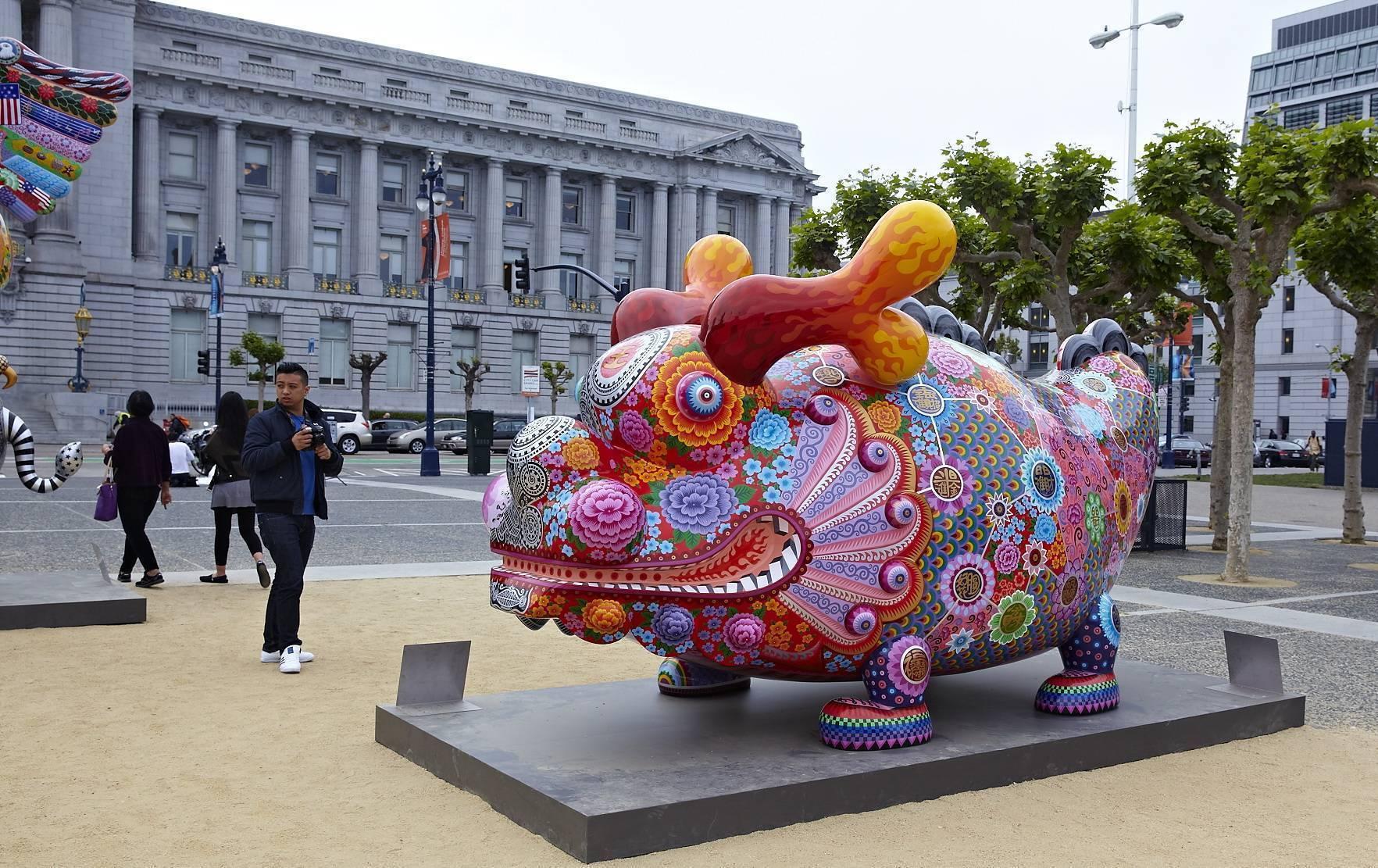 美國舊金山亞洲藝術博物館-福龍 400x170x220cm