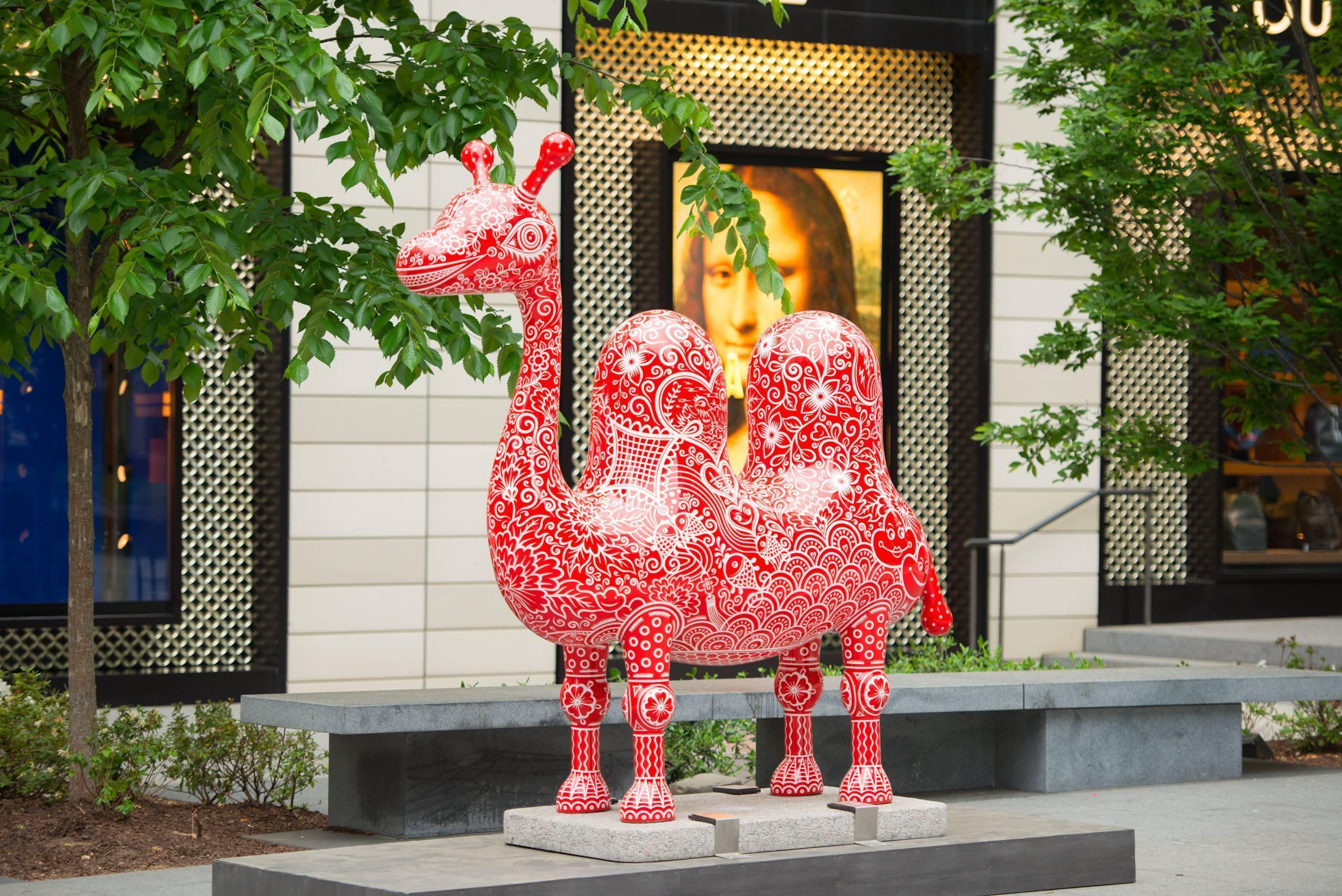 華盛頓DC城市中心-洪易|雙峰駱駝|鋼板彩繪、花崗石|215x70x221cm