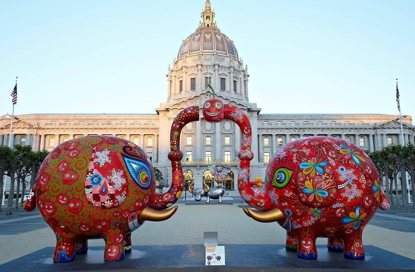 2015美國舊金山市政中心廣場 這是我們最喜歡的展覽。