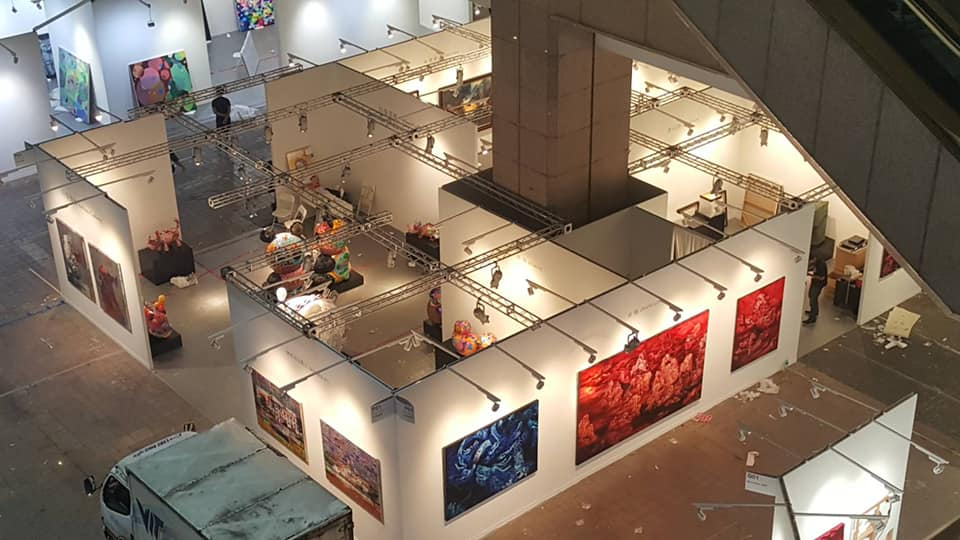 2019台北藝術博覽會,印象畫廊攤位空拍