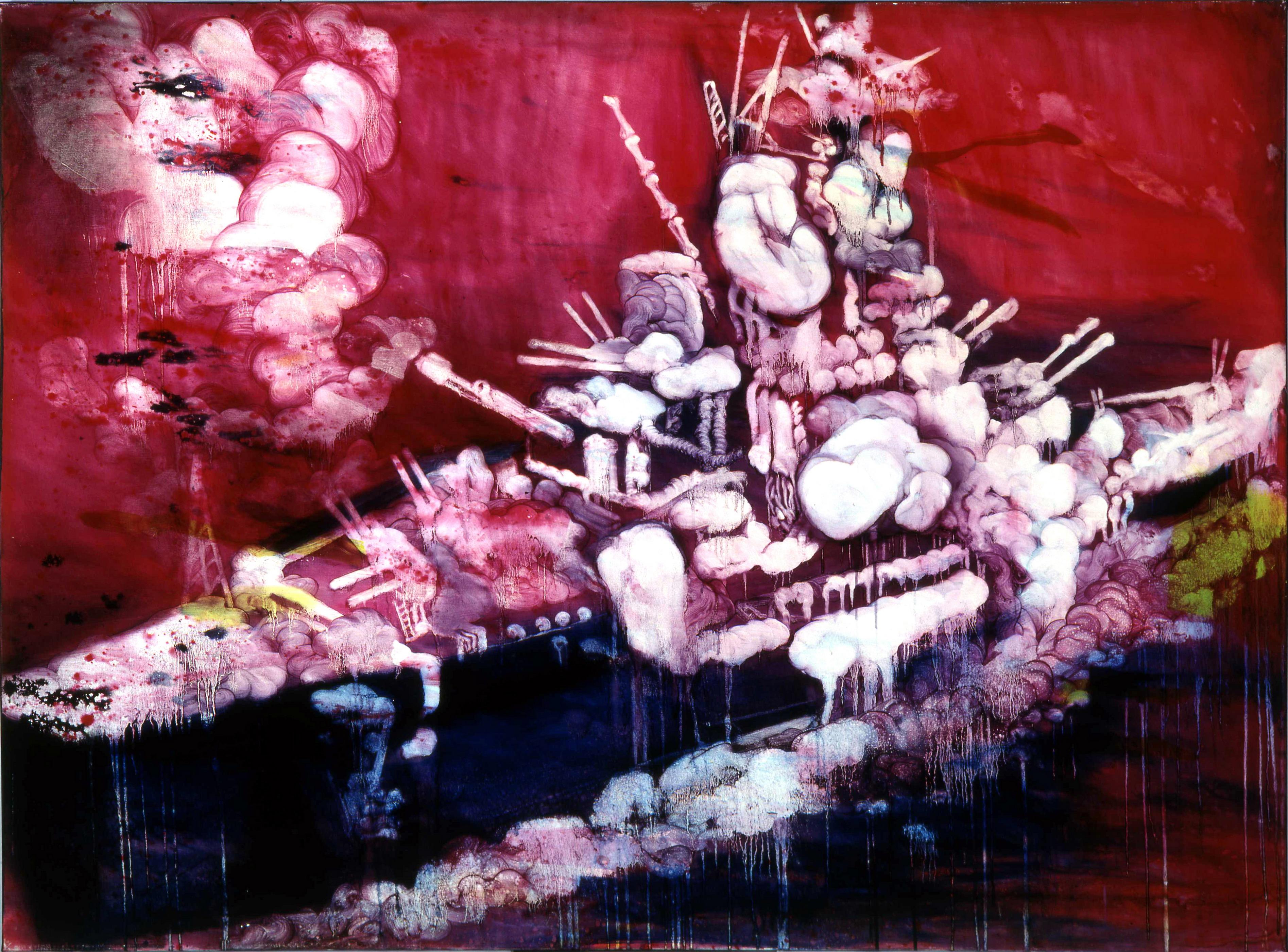 常陵 五花肉系列-肉兵器-大戰艦 2006 油彩 145.5x195cm