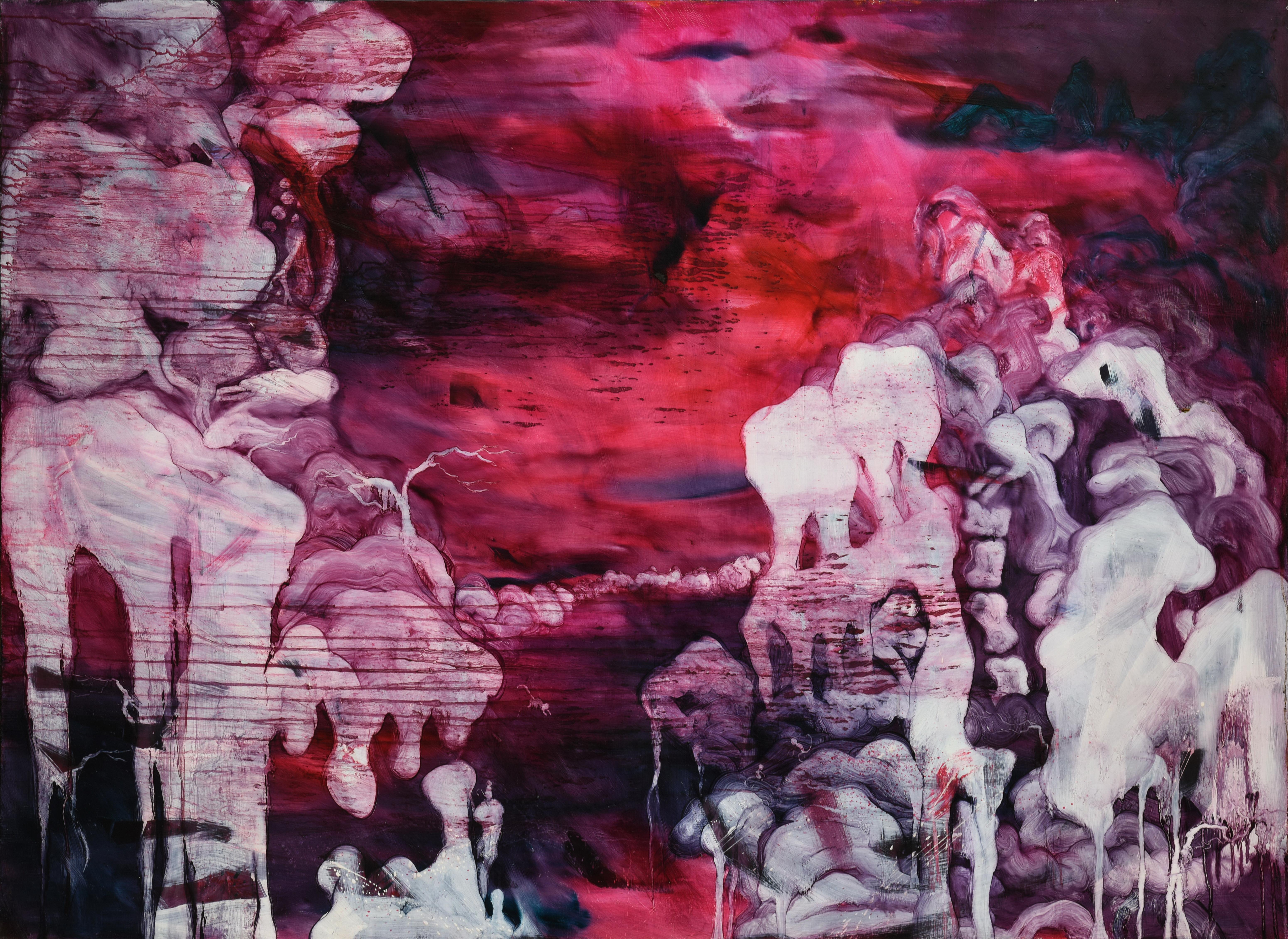 常陵 五花肉系列-肉山水-情山長在圖 2009 油彩 118x162cm