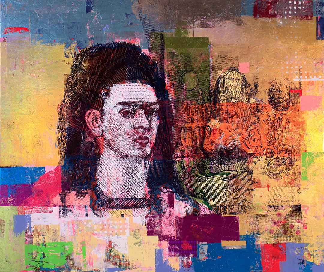 Houben Tcherkelov 500 Pesos Frida Kahlo Diego 2017 綜合媒材 137x162.5cm