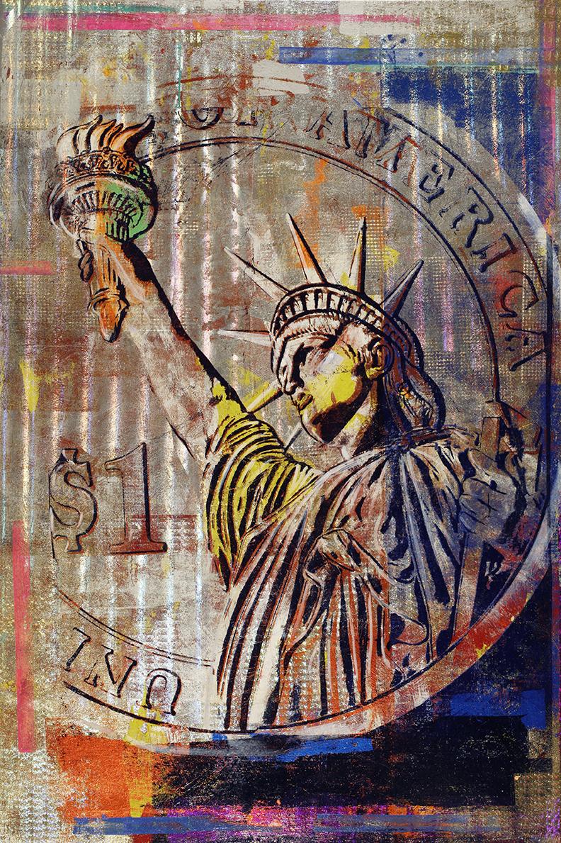 Houben Tcherkelov  $1 Statue of Liberty 2020 綜合媒材 152x102cm