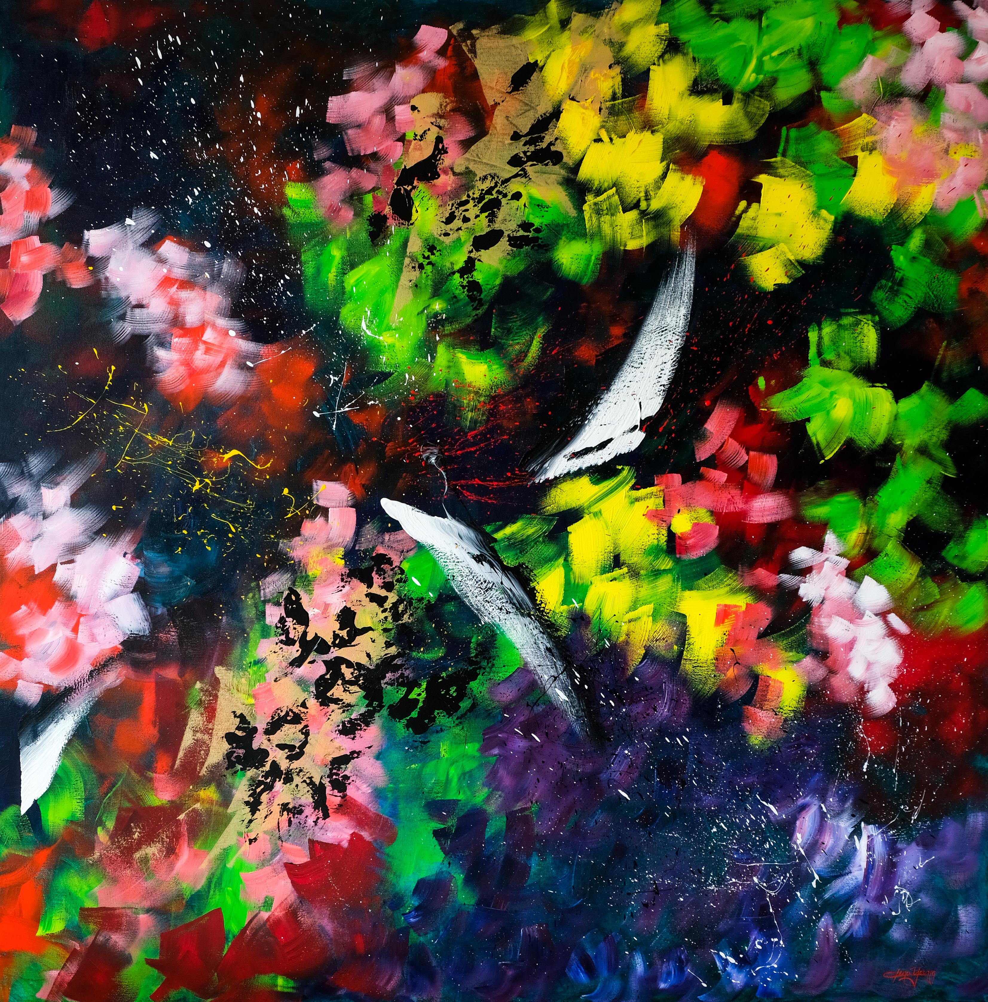 Blossoming into Life 綻放生命 2020 壓克力 152x152cm