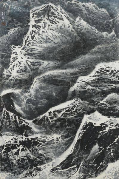 劉國松-刀刻的山峰:西藏組曲133