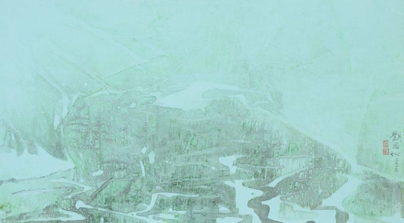 劉國松-冬霰伴霓霏