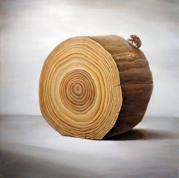 何志宏-原木系列-登高