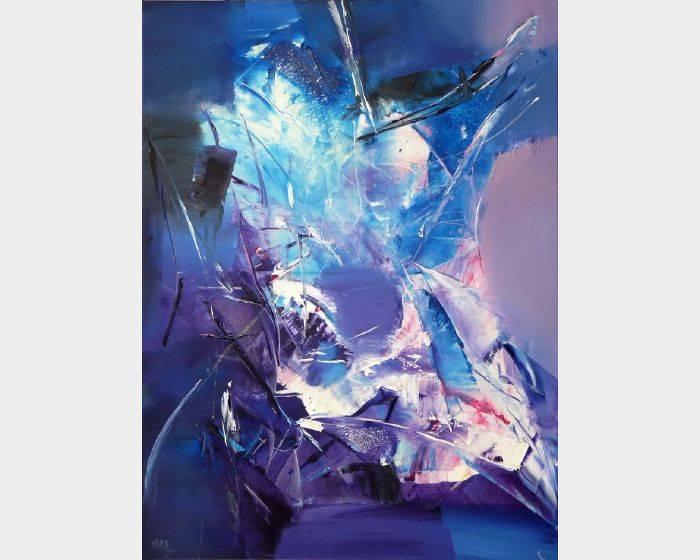 徐畢華-飛翔的紫色光體