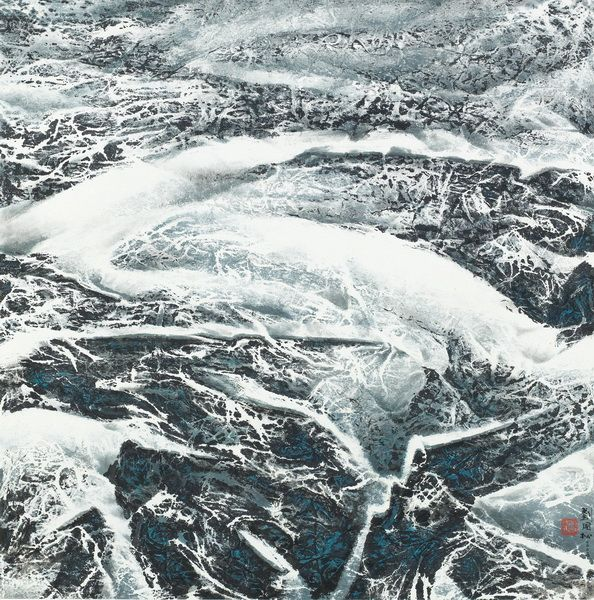 劉國松-西藏系列之六十七—冰川