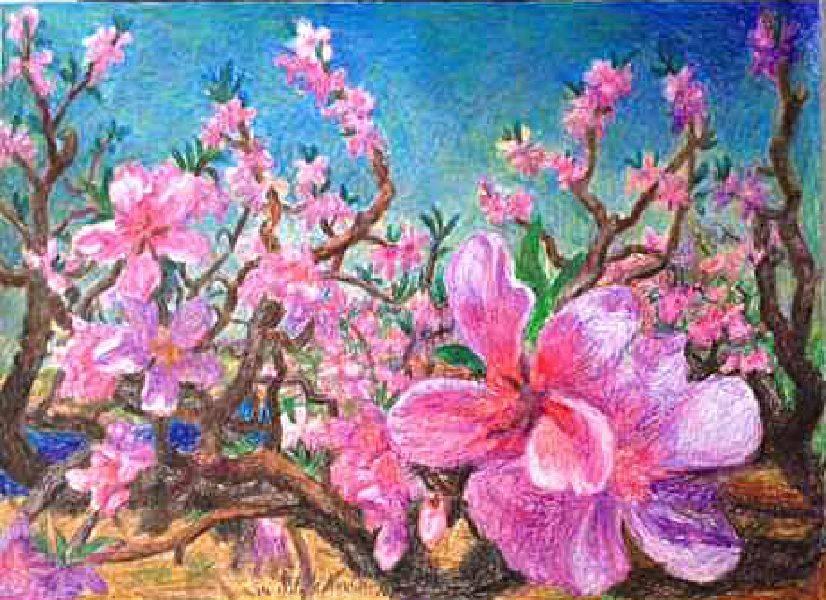 周春芽-桃花