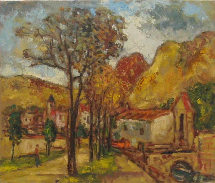 楊三郎-西班牙農村