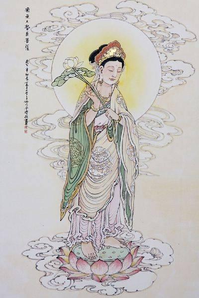 介濤-南無大勢至菩薩(西方三聖之三)