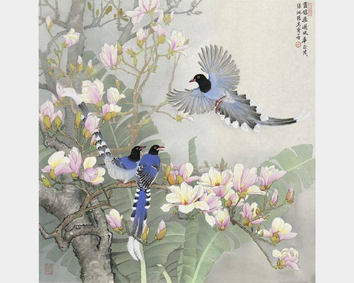 張克齊-藍鵲飛過風華並茂