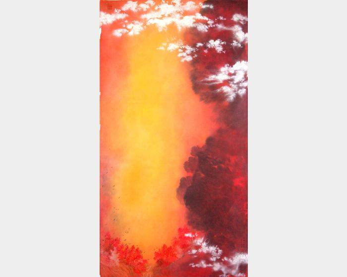 于傳騏-雲掩秋紅谷
