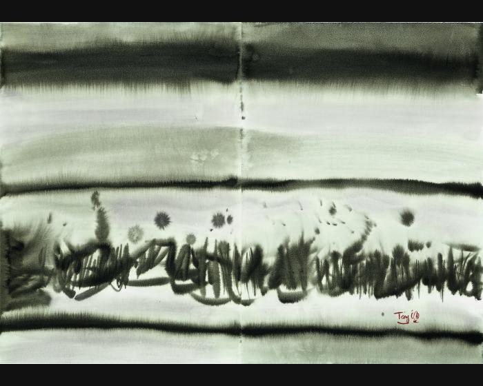 唐海文-無題(抽象水墨)