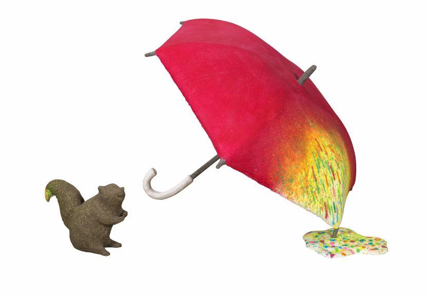蔡潔莘-彩虹雨村落的松鼠