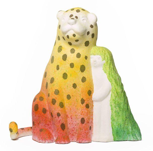 蔡潔莘-彩虹雨村落的小豹與小女孩