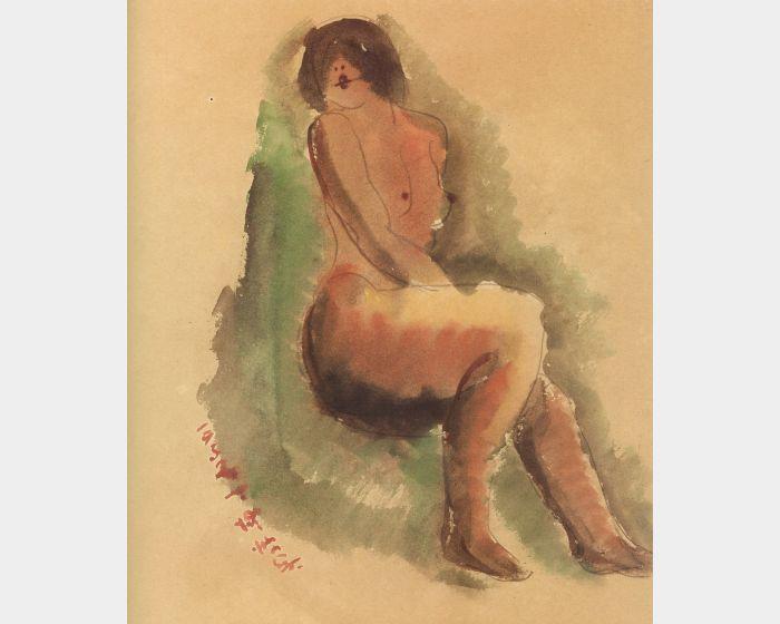 陳澄波-坐姿裸女-32.1(25)