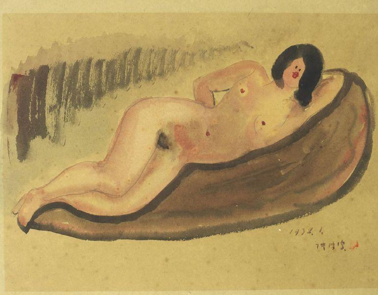 陳澄波-臥姿裸女-32.1(41)