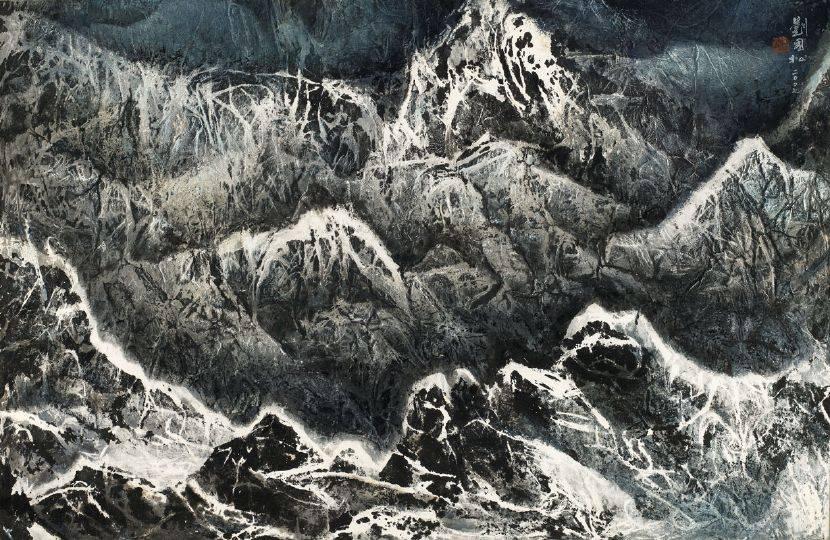 劉國松-濤語落孤峰 西藏組曲九十五