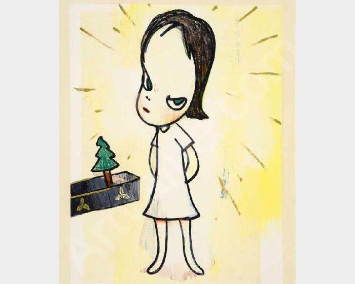 奈良美智-Little Tannenbaum 小聖誕樹 (浮世繪)