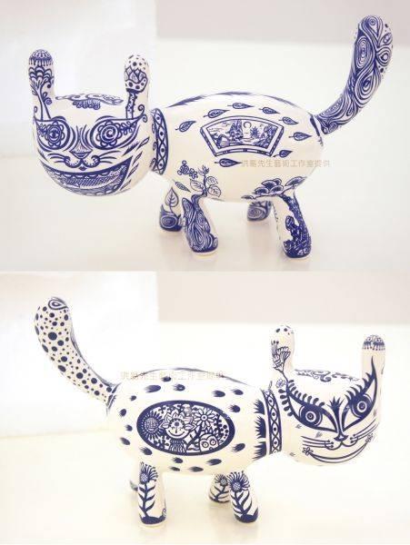 洪易-雕刻之森特別版 小青花貓