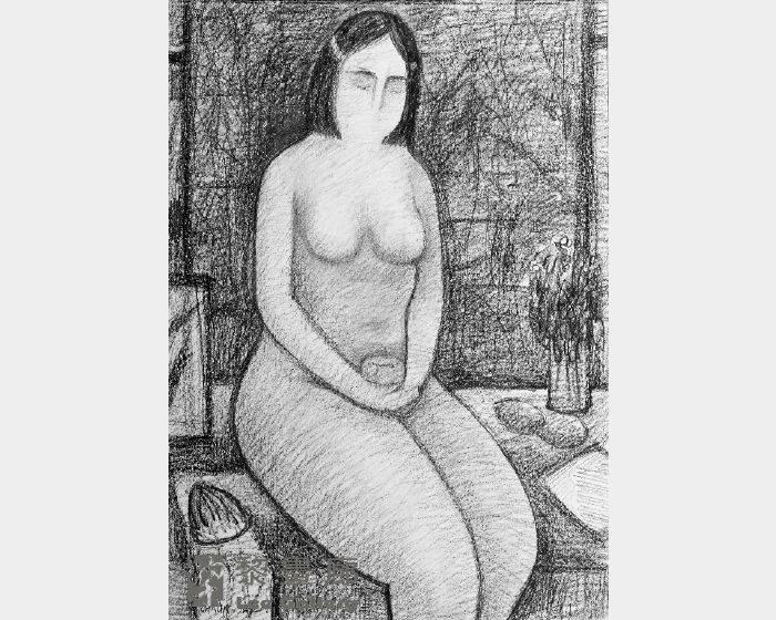 潘朝森-素描裸女ㄧ