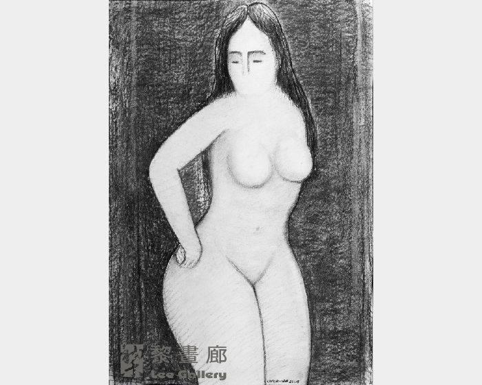 潘朝森-素描裸女二