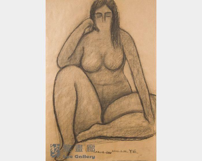 潘朝森-碳筆裸女一