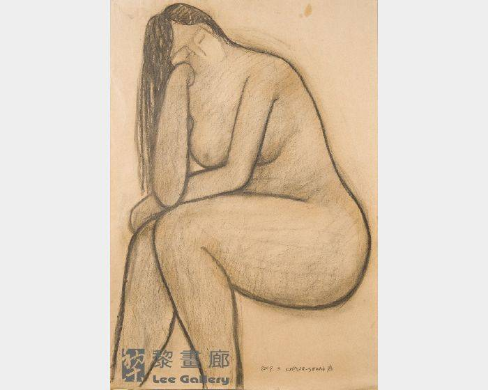 潘朝森-碳筆裸女二