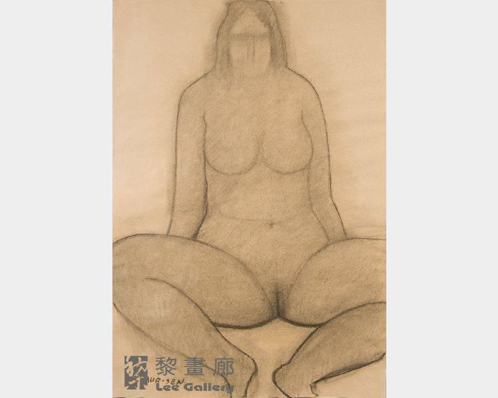 潘朝森-碳筆裸女五