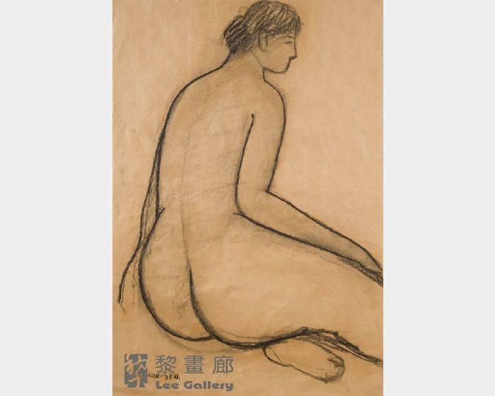 潘朝森-碳筆裸女八