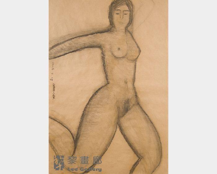 潘朝森-碳筆裸女九