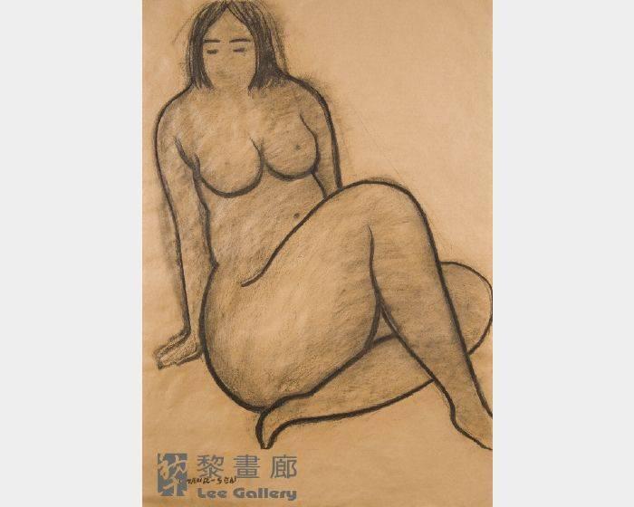 潘朝森-碳筆裸女十一