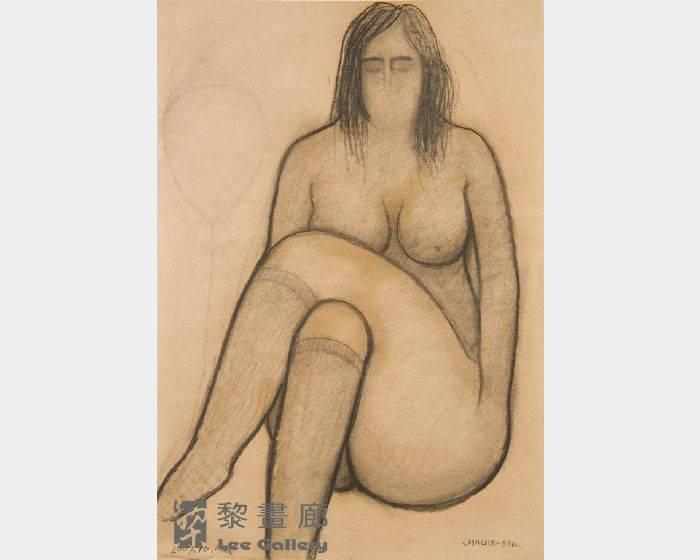 潘朝森-碳筆裸女十四