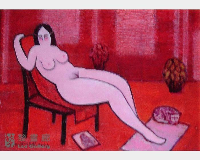 潘朝森-椅背上的裸女