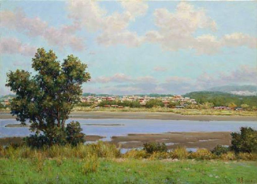 張泉豐-河岸一景