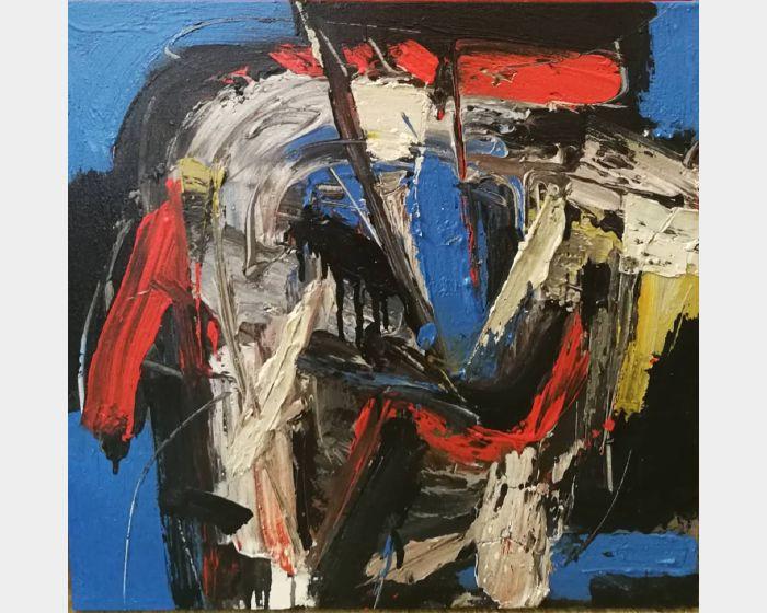 阿旺·達密·阿麥德-《日出靈光》紅藍速寫 GARISMEGA