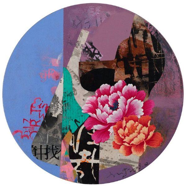 郭博州-花開富貴  Flowers in Full Bloom Bring Prosperity