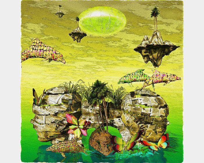 小花春夫-そら(宇宙)の果て 2  End of Cosmos Islands 2