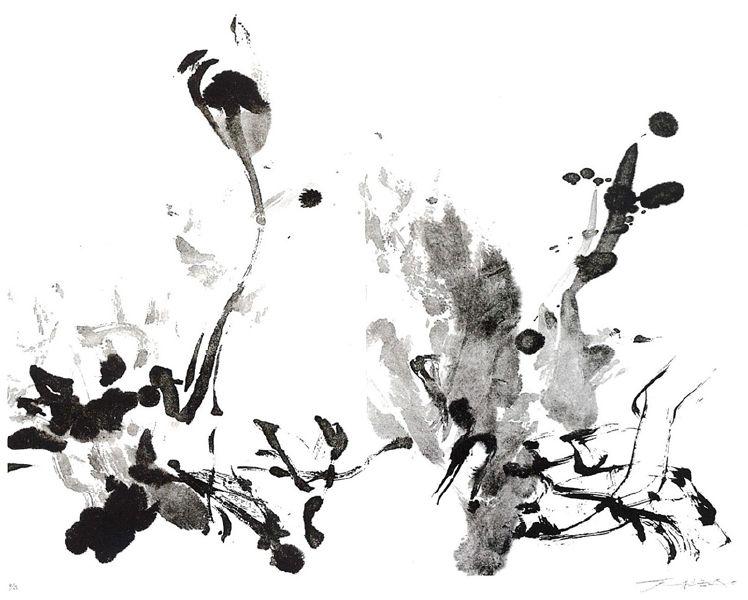 趙無極 -水墨園地 Jardin d'encre-11/63