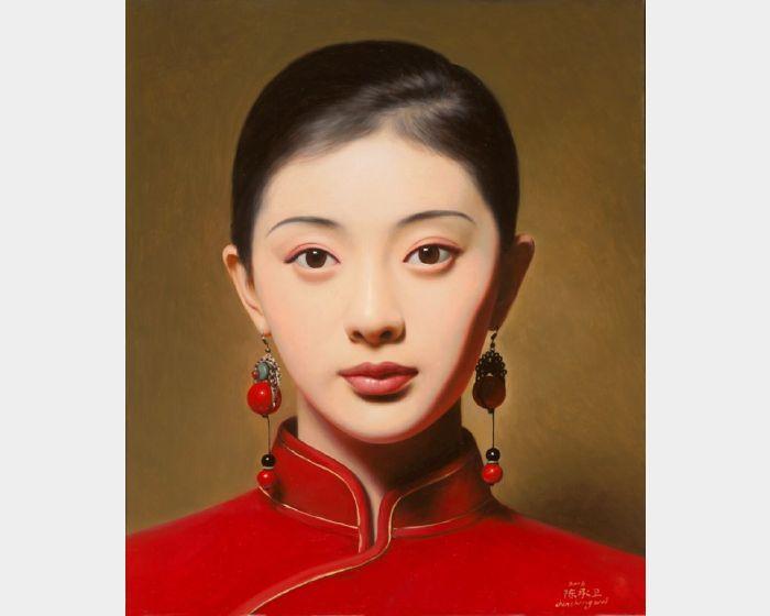 陳承衛-大民國-海棠紅 Series on the Republic of China- Red Begonia