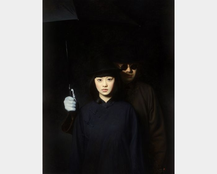 陳承衛-大民國-遙夢幽蘭 Series on the Republic of China- Orchid in Dream