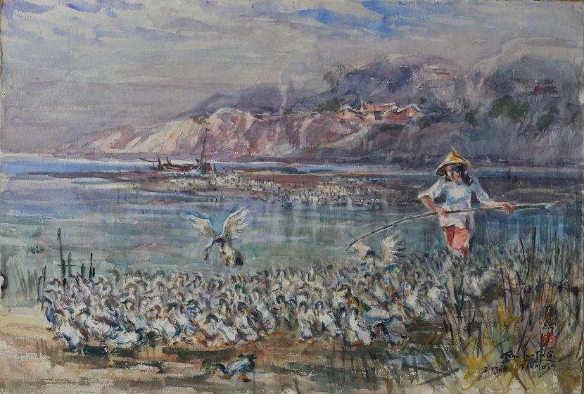 藍蔭鼎-溪邊趕鴨