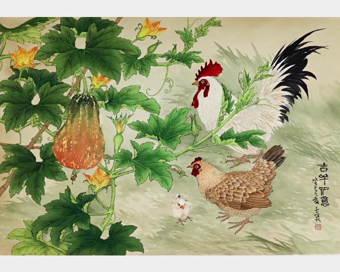 陳士侯- 金瓜與雞