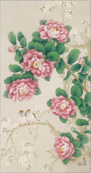 陳士侯- 茶花與梅