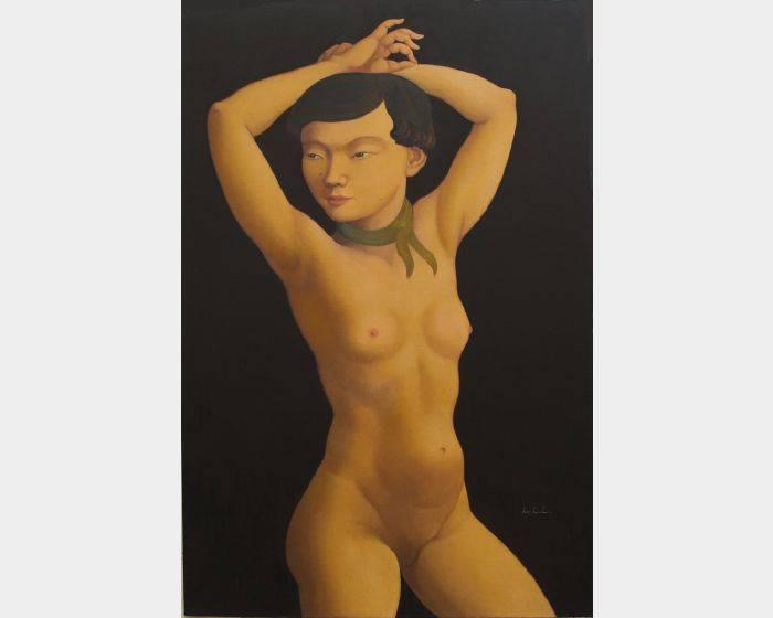 林麗玲-a-05舉雙手的裸女