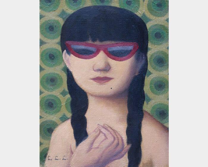林麗玲-c-04墨鏡與辮子